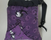 Pendant/Small, Jack Skellington, Print, Purple, Pipe Bags, Pipe Bag, Glass Pipe Protection, Pretty Pouches, Glass Pipe Bag, Pipe Cozy