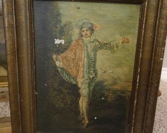 Vintage Victorian Petite Painting Shabby