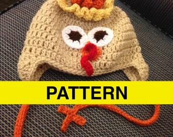 CROCHET PATTERN Turkey Hat