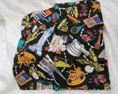 """Beautiful Nicole MIller Novelty Taxi New York Scene Silk Scarf - 13"""" Inch Square"""