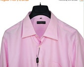 ON SALE Classic Vintage Balmain Paris Pink Long Sleeves Shirt Mens XL X-Large New Deadstock