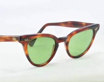 Vintage Cat Eye Glasses, Swan, Tortoise Classic Cat Shape