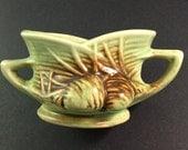 1940s Vintage McCoy Art Pottery 'Pine Cone' Open Sugar Bowl
