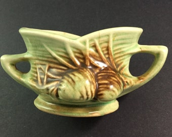 1940s Vintage McCoy Art Pottery 'Pine Cone' Open Sugar Bowl