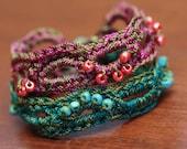 CROCHET PATTERN, Crochet Bracelet Pattern, Bead Jewelry Tutorial, Thread Crochet- Instant Digital Download (39)