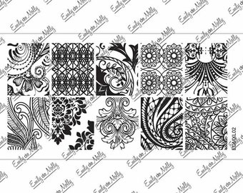 Nail stamping plate - EDMXL02