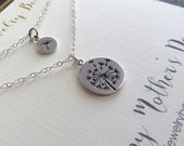 Mother daughter jewelry, Dandelion charm necklace, sterling silver, gift for mothers day from daughter