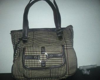 vintage ladies 1990s plaid purse