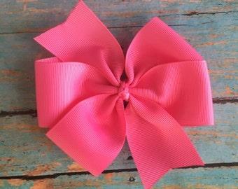 Hot Pink Pinwheel Bow