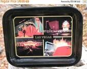 MANCAVE  1990s  Viva  LAS VEGAS  Souvenir Drink Tray Barware Drink Tray