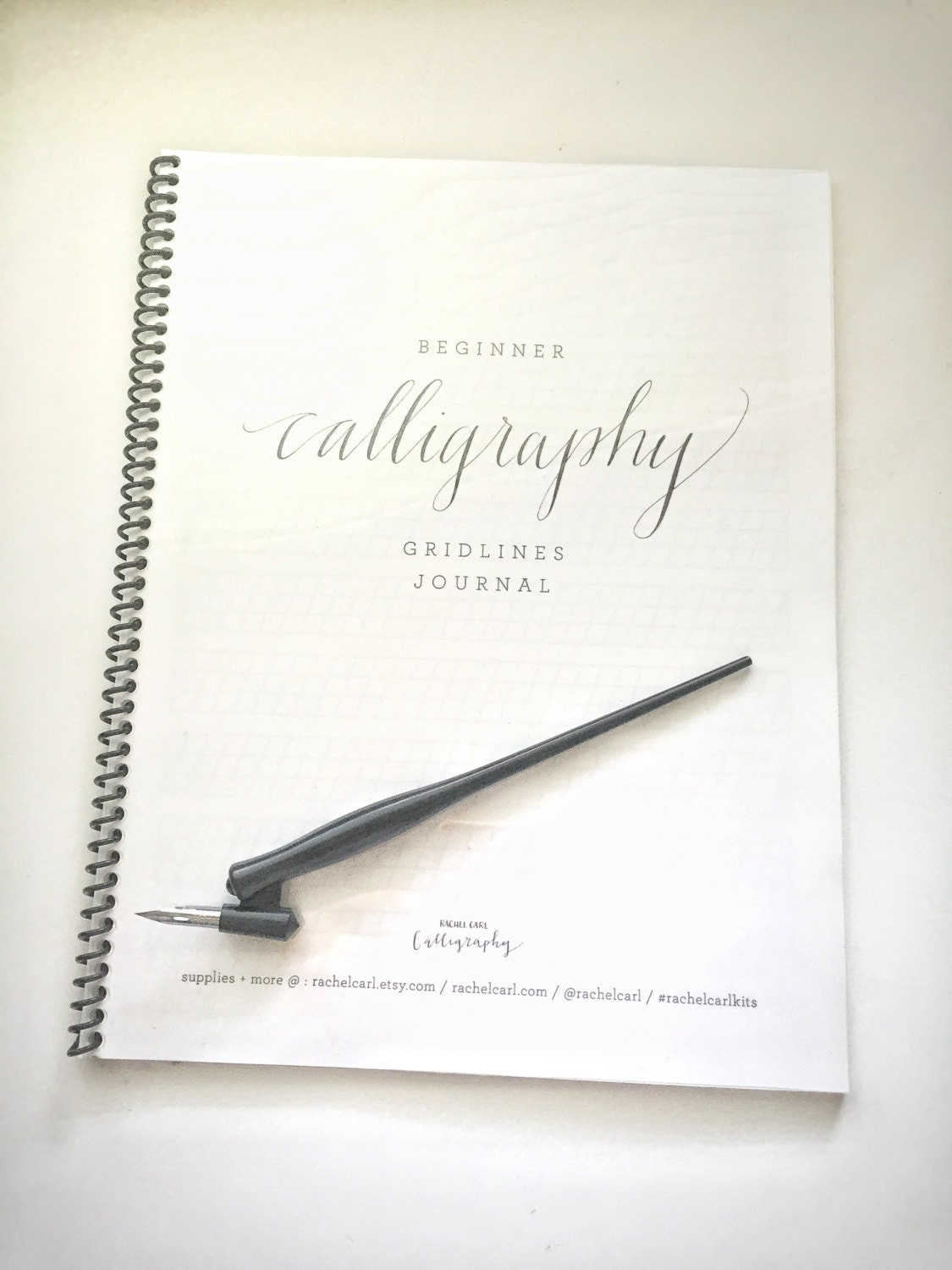 Beginner calligraphy journal with gridlines notepad from