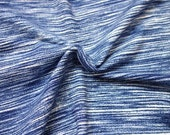 Blue Space Dyed Brushed Poly Spandex Knit, 1 yard