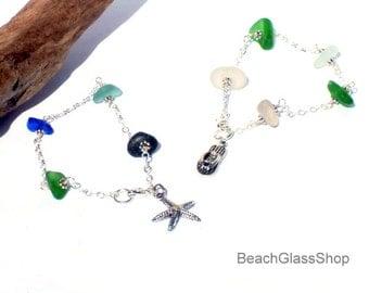 Seaglass Bracelet Lake Erie Beach Glass Mermaid Tears Jewelry