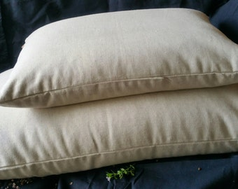 STANDARD Buckwheat Hull Eco Organic HEMP Covered Pillow  71cm x 46cm All Aussie Made