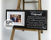 Baptism Gifts For Godparents, Godparents Gift, Godmother Gift, Godfather Gift, Godparents Frame, 8x20 The Sugared Plums Frames