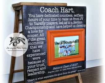 Senior Gift for Coach, Soccer Coach Gift, Football Coach Gift, Cheer Coach Gift, Baseball Coach Gift, Basketball Coach Gift 16x16