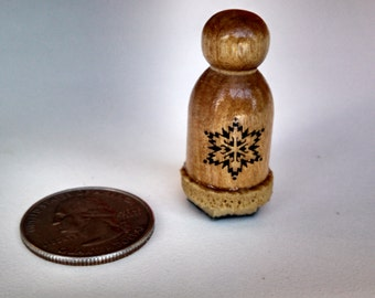 Vintage Individual Snowflake Rubber Stamp, 1987