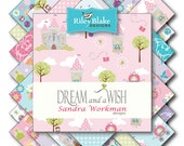 """Dream and a Wish, Princess,  Layer Cake, Stacker, by Riley Blake, 18, 10"""" squares"""