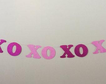 XOXOXO garland Happy Valentines Day garland Heart banner