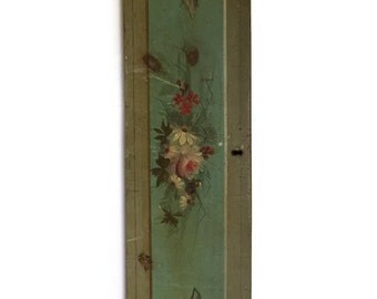 Antique Civil War Era Pine Dresser Drawer Front - Original Paint - Wall Hanging
