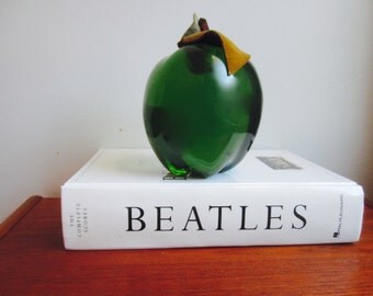 Lucite Apple Paperweight Granny Smith Green Lucite  Bookend LUCITE Modernist   Hollywood Regency Mid century modern  Teachers Gift