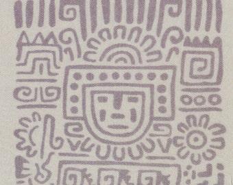 Mayan Anne Klein orange white silk scarf gray