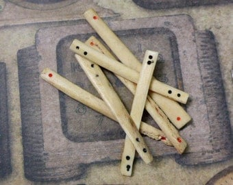 Mahjong Bone Counting Sticks, Primitive Antique