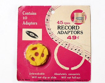 45 RPM Record Adapters in Original Package