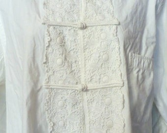 SALE  Rare Victorian/20s/30s Asian Inspired Cotton Nightshirt/Dress