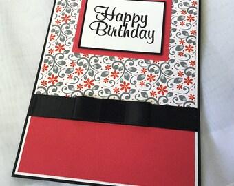 Happy Birthday- Red&Black