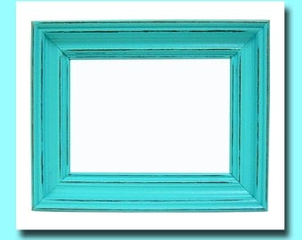 Shabby Chic Frames Rustic Picture Frame 5x7 8x10 Turquoise Home Decor Wall Art Nursery Wedding Beach Picture Frames