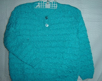 Turquoise girls sweater, 4T