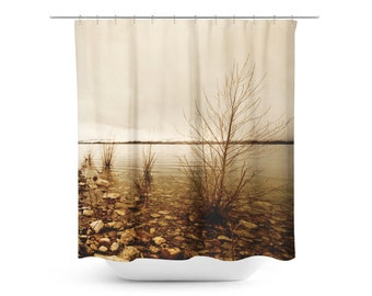 Items Similar To Brown Shower Curtain In Off White And Brown Damask Pattern Sized 72 X 72