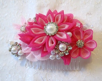 Kanzashi Flower Hair comb Hair Fascinator