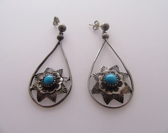 Dangle Sterling Turqouise Earrings