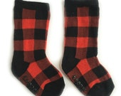 Baby and toddler knee high socks, Baby socks Boot Socks in Buffalo Plaid baby shower gift baby gift nordic print patterned socks