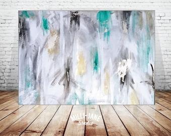 Bespoke Abstract Extra Large Acrylic Canvas