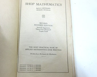 Antique Book Shop Mathematics H C Deckard Book Of Applied Mathematics