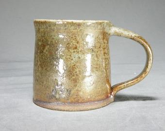 10 oz Coffee cup.  Rustic mug. Wheel thrown mug.   Coffee cup.