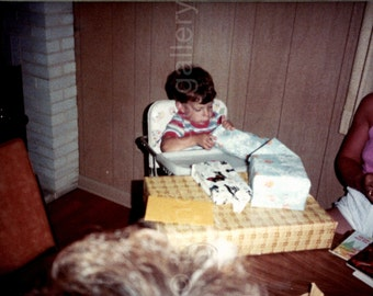 Vintage Photo, Boy's Birthday Party, Color Photo, Snapshot, Found Photo, Family Photo, Old Photo, Vernacular Photo, Toddler  *AUGUSTINE0671