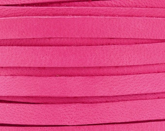 Leather Lace-5mm Deerskin Lace-Fuchsia-2 Yards