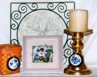 Violet Posies - Cross Stitch chart from Classic Stitch - Chart #19