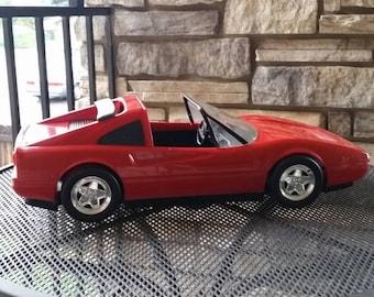 Vintage 1986 Barbie red Ferrari convertible car