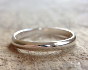 Half Round Silver Ring, Sterling Ring Band, Silver Stack Ring, Silver Band, Gift For Her, Bohemian Ring, Bohemian Jewelry, Mother's Day