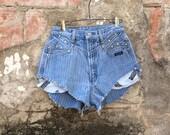 Vintage Rockies Denim Western High Waist Knicker Shorts
