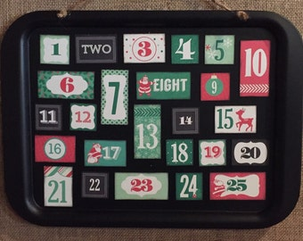Advent Christmas Countdown Calendar Chalkboard