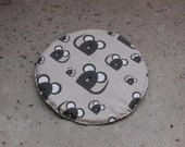 Inner pad for pet bed, cat cave, show cage, dog bed - linen fabric pad - washable - Mouse - Cat