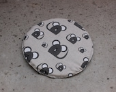 Inner pad for pet bed, cat cave, show cage, dog bed - linen fabric pad - washable - Mouse - Cat - Easter gift