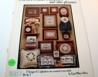 Patchwork Hearts and Other Pleasures Counted Cross Stitch Pattern Book by Lynn Waters Busa 1986