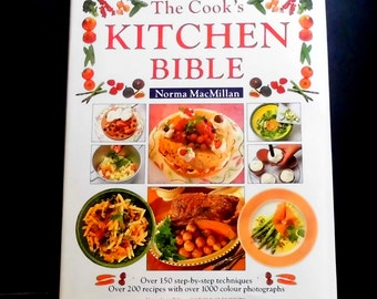 Cookbook The Cook's Kitchen Bible Hardcover Like New Large beautiful Cookbook